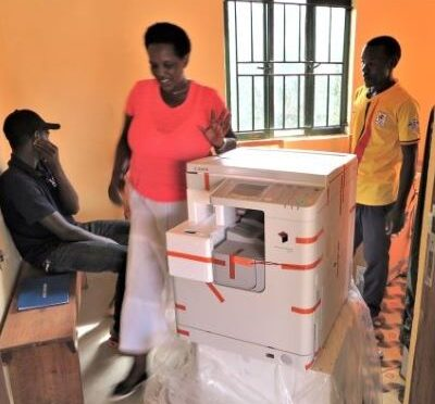 KACHICA Receives  A NEW PHOTOCOPIER FOR PRINTING LEARNING MATERIALS FOR THE TODDLERS AT HOME