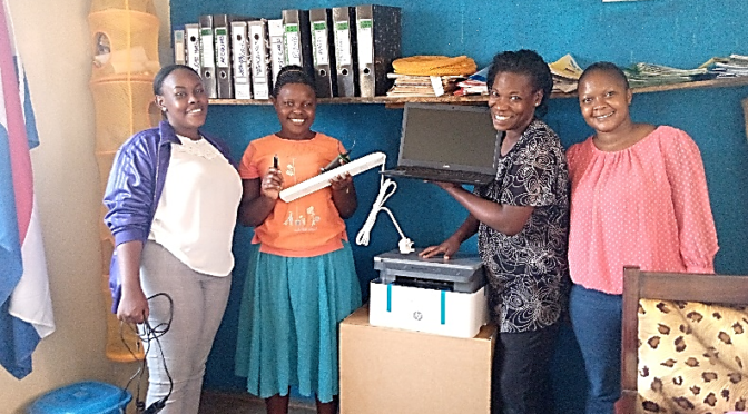 MAMA AND ME DAY CARE CENTRE RECEIVES NEW OFFICE EQUIPMENT
